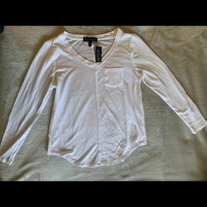 White Long-sleeve Tee